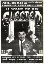 28/3/92Pgn29 Advert: On Screen Now Mr Bean In (i Want To Be) Elected 7x5""