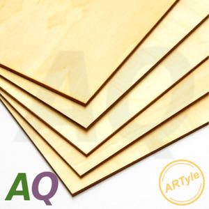 Sperrholz Platte 3mm 4mm A4 A5 Multiplexplatten Zuschnitt Birke Qualität AB/AB