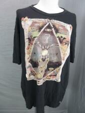 Volcom Size XL Mens Black 100% Organic Cotton Short Sleeve Casual T-Shirt T605