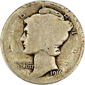 1916-D Mercury silver dime key date CAC
