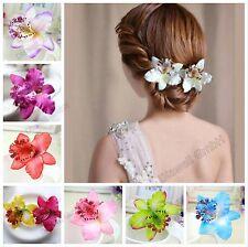 1x Orchidee Haarblume Haarclip Haarspange Blume Blüte Ansteckblume Haarschmuck