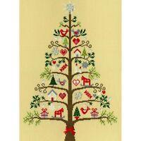 Bothy Threads XX9 Fir Christmas Scandinavian Embroidery Counted