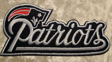 "New England Patriots NFL 4"" Name Iron On Embroidered Patch ~US Seller~ FREE Ship"