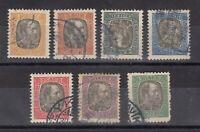 Iceland 1902 Service Set Of 7 Scott #17/23 Fine Used JK1999