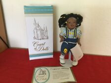 """Court of Dolls Ginger, African American Doll with Stand 10"""" Porcelaine 911/5000"""