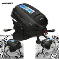 Motorcycle Motorbike Magnetic Oil Fuel Tank Bag For GPS Phone 12L PU Saddlebag
