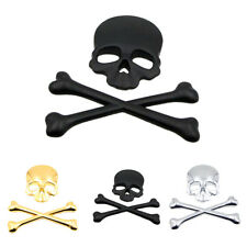 Sticker Autocollant Squelette Crâne Badge Emblème Décor Voiture Auto Adhésif NF