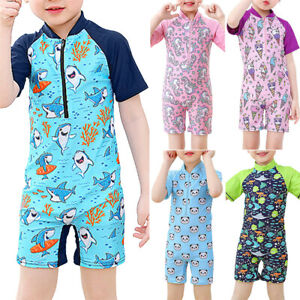 Kids Girls Cartoon Animal Swimwear Swimsuit Sunsuit UV Sunsafe Swimming Costume