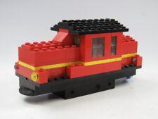 Lego Tren Locomotora Viejo de maniobras rojo 4v MOTOR FERROCARRIL NEGRO City