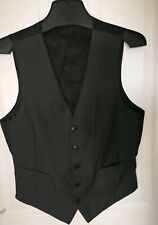 Mark Spencer Autograph Mens Waistcoat Suit Grey Size Small Vest Wool 37 insh AA