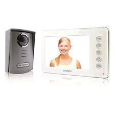 Avidsen Visiophone 2 fils Ylva avec Accran LCD couleur Ultra plat 4 3 pouces