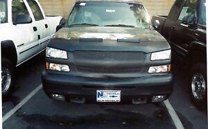 Colgan Front End Mask Bra 2pc. Fits 2003-2004 Chevy Silverado 2500HD LS LT W/Lic