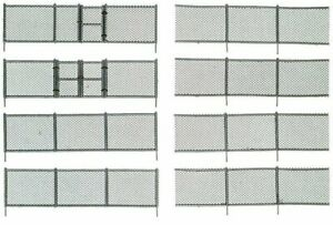 HO Scale - CHAIN LINK FENCE - 192 scale feet with Gate - WOO-A2983