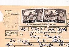 AD224 1969 GB Castello di valori elevati Isole del Canale * St. Ouen JERSEY * TELEGRAFO Forma