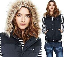 Button Gilet Hip Length Coats & Jackets for Women