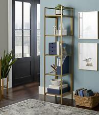 Better Homes & Gardens Open Modern Bookcase/BookShelf Gold Finish Farmhouse Boho