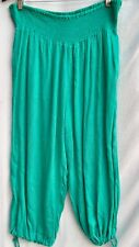 GREEN swimsuit cover up Beach holiday dress crop capri pant 14 Harem option cuff