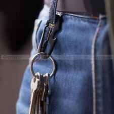 Edc D-Shaped Carabiner Bottle Opener Keychain Key Ring Spring Hook Multi-Tool