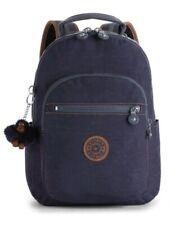 NEW Kipling Seoul Go S backpack blue tan block Rrp£79