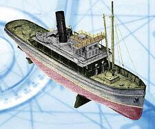 "Vintage 1957 Radio Control 421/2"" Steam or Electric Model  Costal Tug Boat Plans"