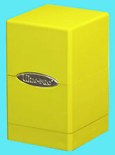 ULTRA PRO SATIN TOWER YELLOW DECK BOX New Card Dice Compartment Storage MTG