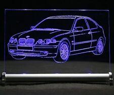 LED-Leuchtschild graviert ist BMW 3 e46 Compact    AutoGravur 3er drei