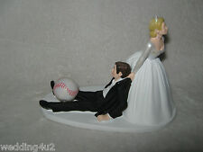 Wedding Party Reception Baseball Cake Topper Bride & Groom Humorous