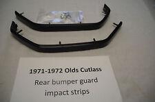 1971-72 Olds Cutlass rear bumper impact guard strips