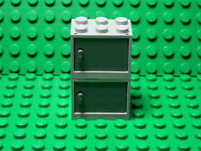 LEGO LEGOS  2 NEW  LB GRAY Container, Cupboard w/ DB GRAY  Door 2x3x2