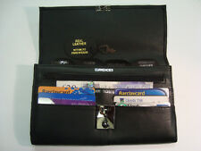 TRAVEL Document WALLET ORGANISER with lock for Passport etc SOFT LEATHER