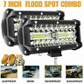 2pcs 7'' Spot LED Light 800W Work Bar Lamp Driving Fog Offroad Car Truck 12/24V