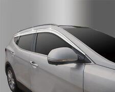 New Chrome Window Vent Sun Visors 6Pcs D631 For Hyundai 2016 Santa Fe DM