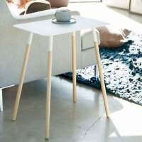 Yamazaki Beistelltisch Sofatisch Nachttisch 45x30cm Metallplatte weiß