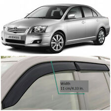 TE20303 Window Visors Guard Vent Wide Deflectors For Toyota Avensis Sd 2003-2008
