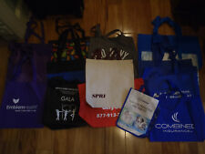 18 LARGE NEW REUSBALE TOTE BAGS, CANVAS, PLASTIC, CATS, OLD NAVY, GETTYSBURG