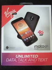 Brand New Sealed Virgin Mobile Moto E5 PLAY 16G Prepaid No Contract Cell Phone