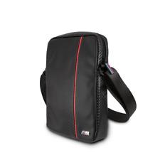 BMW Carbon Effect Red Stripe Travel Bag 7-8 Zoll Universal Schwarz