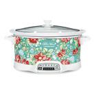 Slow Cooker Crock-Pot 7-Quart Programmable Vintage Floral Kitchen Appliance  photo