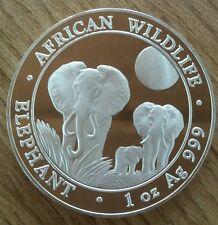 1 oz 31,1g Silber Somalia Elefant 2014 Elephant Silver Unze Münze Somali