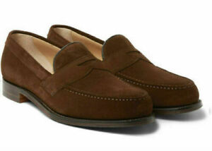 Mens Handmade Brown Suede Leather Loafers Slip On Shoes Casual Formal Men Shoes