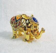 Thai Premium Gold Elephant Casket for Jewellery Trinket,Home Decor & Collectible