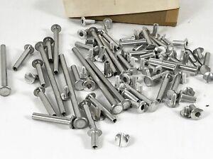 Aluminum Binding Posts and Screws Books Various sizes LOT 32 + Aluminum
