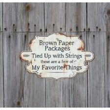 distressed look metal sign a few of my favorite things song from Sound of Music