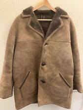 Baileys Of Glastonbury Brown Real Sheepskin Coat Jacket UK Size 40 VINTAGE 1970s