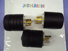 USED 3 Pieces Pass/Seymour L520-P 125V 20A Nema Turnlok Male Plug 2 Pole 3 Wire