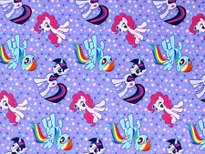 FAT QUARTER  MY LITTLE PONY FRIENDSHIP COTTON FABRIC SPRINGS CREATIVE HASBRO  FQ