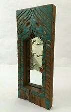 1850'S Vintage Hand Carved Wooden Engraved & Mirror Wall Frame Decorative