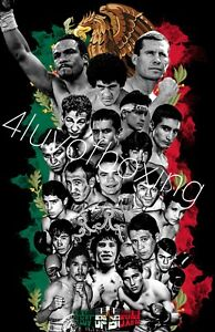 Mexico Champ 4LUVofBOXING Poster New Boxing wall art Chavez Marquez Sanchez