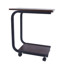 Mobile Coffee Table Bedside Sofa Side Laptop Desk With Wheels Home Office