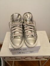 Geox Scarpe donna 37 38 traspiranti argento